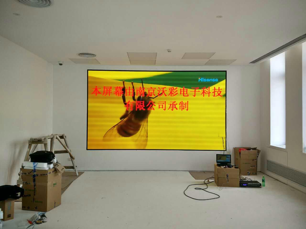 天津led全彩屏_天津宝骏涂料展厅室内P3全彩显示屏 - LED显示屏|LCD液晶拼接屏|小 ...